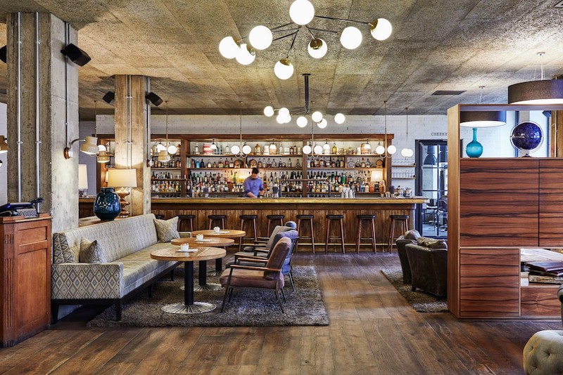 An image of the interior bar of the Hoxton Hotel in Holborn
